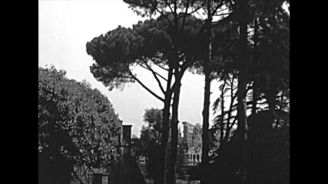 roman forum in rome - colosseo 1900 video stock e b–roll