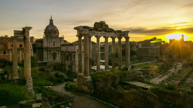 roman forum landmark in italy - italian architecture stock videos & royalty-free footage
