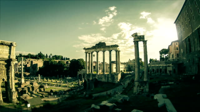 Roman Forum Timelapse at Sunset Video HD video