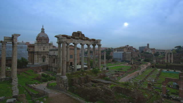 Roman Forum Zoom Out Day Time Lapse video