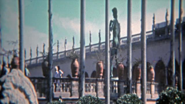 CASABLANCA, MOROCCO 1972: Roman villa built for the rich to enjoy their cronyism. video