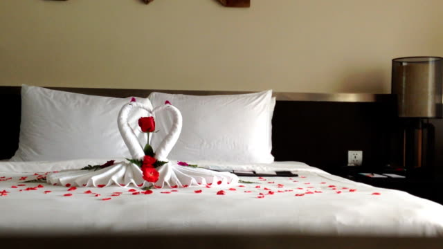 Romance towel on he bed video