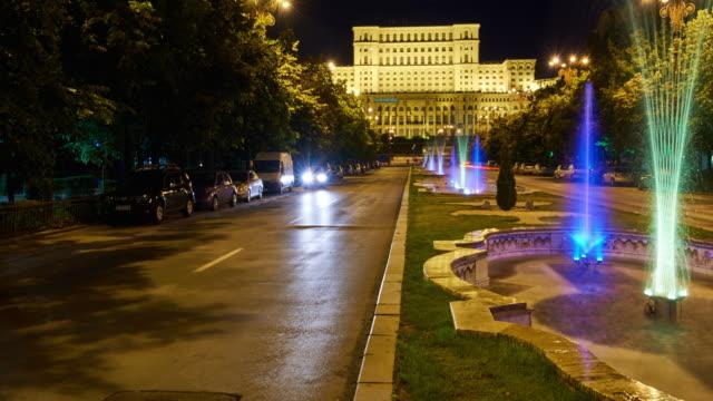 Romania Parliament Palace 4K TimeLapse video