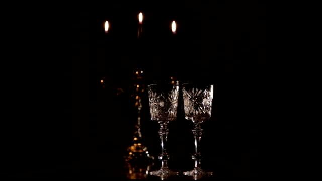 Romantic atmosphere in the restaurant video