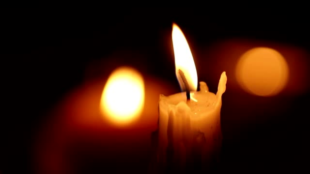 Romantic atmospheric candle lights video