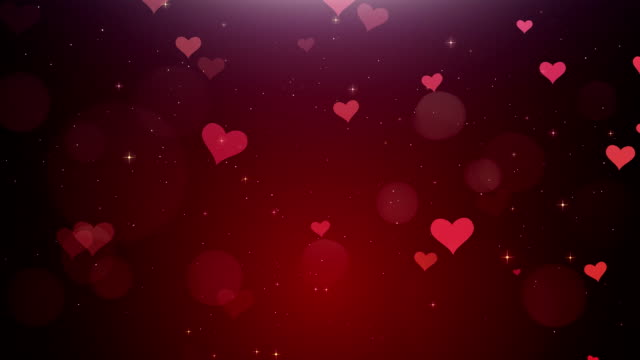 romantic background of red heartsа - valentines day stock videos and b-roll footage
