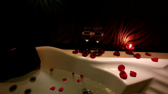 Romantic bath video