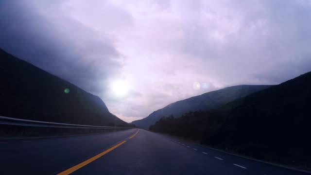 Romantic Countryside Drive Through Norwegian Valley video