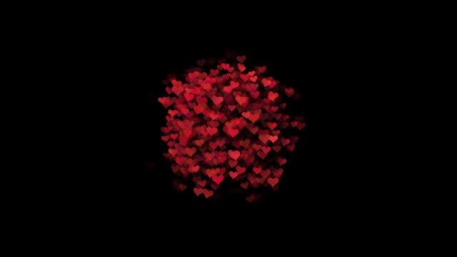 ロマンチックな空飛ぶ赤いバラ花びらハート結婚式背景が大好きです。聖バレンタインデー、母の日、結婚記念日のグリーティング カード、結婚式の招待状や誕生日を e カードです。シームレスなループ - 母の日点の映像素材/bロール