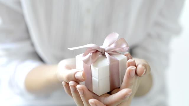 Romantic gift box video