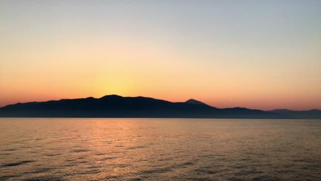 Romantic sunset over Kefalonia video
