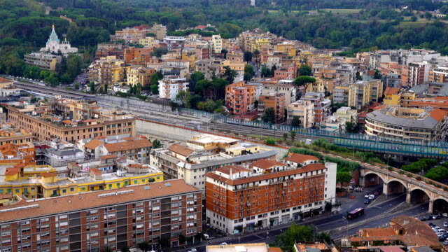 Rome City View Rome City View, Rome Italy european culture stock videos & royalty-free footage