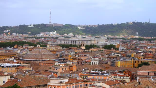 roma şehir görünümü - vatikan şehir devleti stok videoları ve detay görüntü çekimi