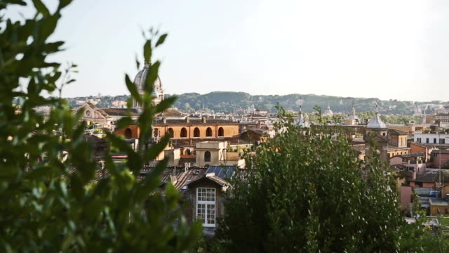 Rome domes and skyline from Pincio Hill video