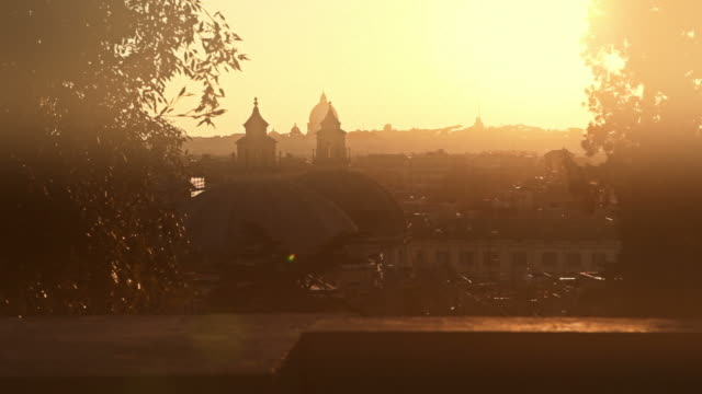 rome from pincio hill - tilt down stock videos & royalty-free footage