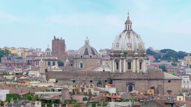 Rome panorama view, Italy video