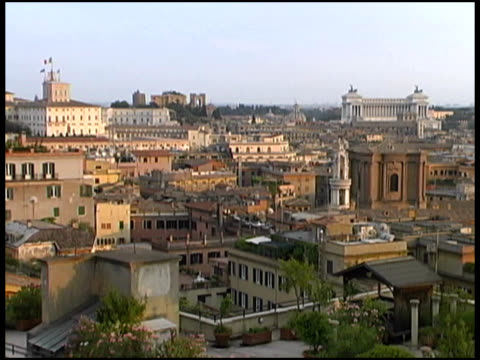Rome Rooftops (Monument of Vittorio Emanuele II) (Daytime) video