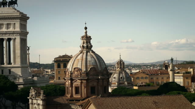 rome skyline panning video - tilt down stock videos & royalty-free footage
