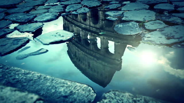 Rome Water Reflections: the Colosseum video