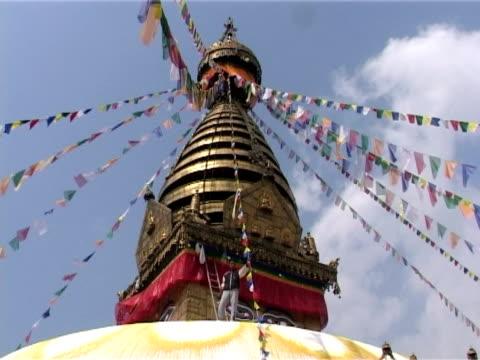 Roof of Swayambhunath Stupa, Kathmandu video
