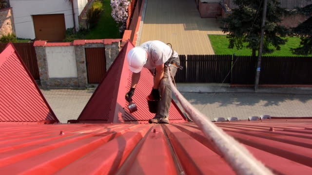 Roof painting video