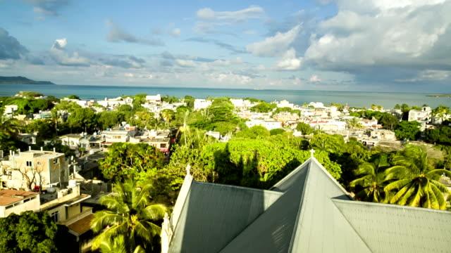 tetti delle mauritius - isole mauritius video stock e b–roll