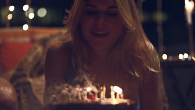 Rooftop party Selected Takes - Shot on RED Epic happy birthday stock videos & royalty-free footage