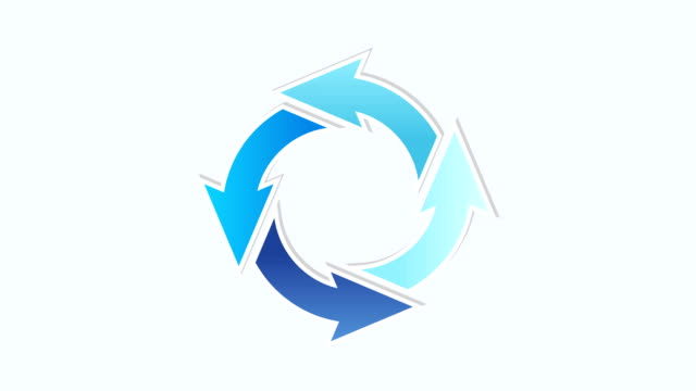 rorating circle arrows rorating circle arrows with different blue colors, looped blood flow stock videos & royalty-free footage