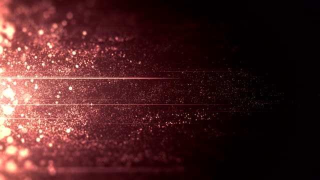 vídeos de stock e filmes b-roll de rose gold / purple / red particles moving horizontally - loop - glamour