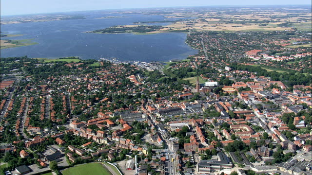 Roskilde  - Aerial View - Zealand, Roskilde Kommune, Denmark This clip was filmed by Skyworks on HDCAM SR 4:4:4 using the Cineflex gimbal. denmark stock videos & royalty-free footage