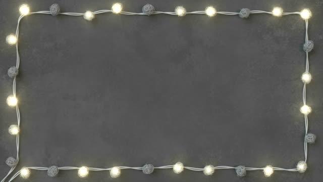 羅唐弦燈在具體背景無縫迴圈3d 渲染動畫 - christmas lights 個影片檔及 b 捲影像