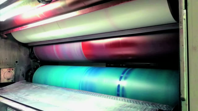 rotary press - lithograph stock videos & royalty-free footage