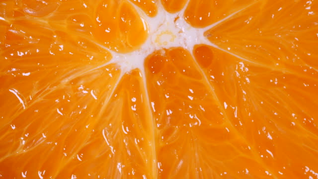Rotate and Macro shot of orange fruit