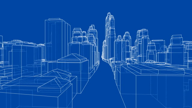 Rotate City. The layers of visible and invisible lines Rotate City. The layers of visible and invisible lines. 3d illustration turntable video wire frame model stock videos & royalty-free footage
