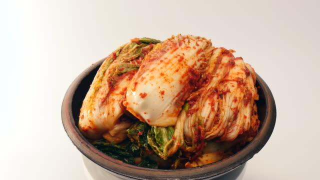 Rotate kimchi on a  crock video