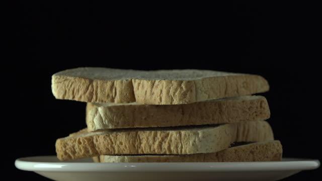 回転: パン - 食パン点の映像素材/bロール