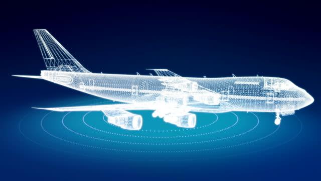 vídeos y material grabado en eventos de stock de estructura metálica de avión giratorio - viaje en primera clase