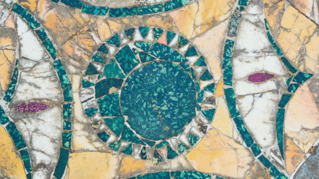 Rotating ancient Roman marble floor, Rome, Italy Rotating ancient Roman marble floor, Rome, Italy mosaic stock videos & royalty-free footage