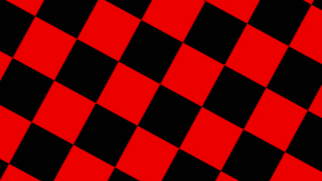 rotierende animation aus schwarzem und rotem schachbrett - karo stock-videos und b-roll-filmmaterial