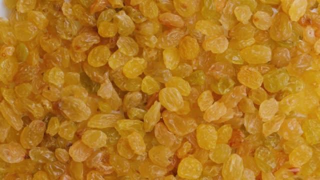 Rotating background of raisins