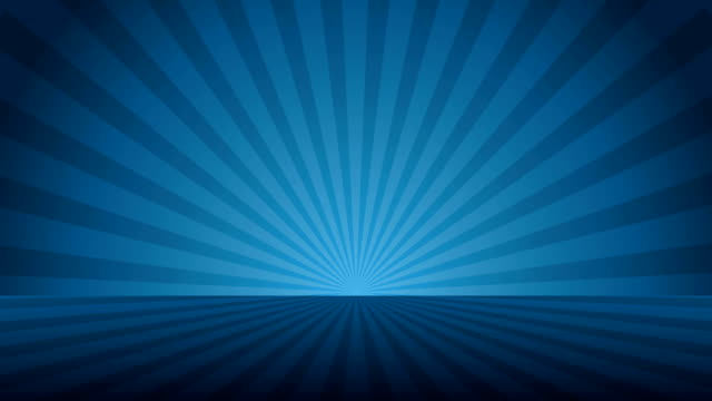 Rotating blue radial rays. Shiny background with ray of light. Blue abstract space. Loop animation. Colorful rays background. Starburst illustration. Rotating loop animation with ray of color light. Vacant party space room. dark blue stock videos & royalty-free footage