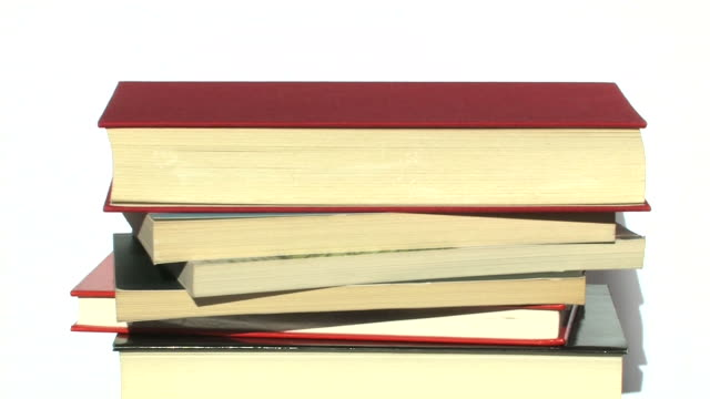 Rotating books video