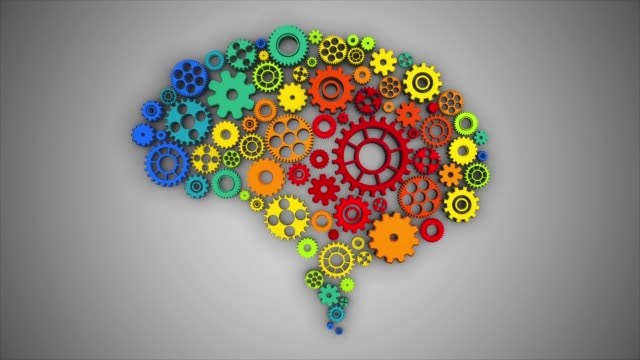 vidéos et rushes de pivotant sur cerveau gears-bouclables - rouage