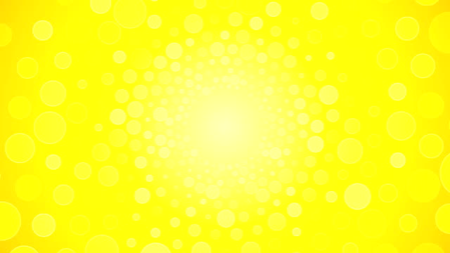Rotating bright yellow background with circles video