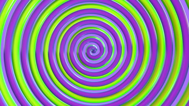旋轉彩色螺旋 - 波板糖 個影片檔及 b 捲影像