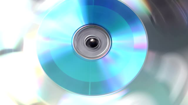 rotierenden cds - datenspeicher diskette stock-videos und b-roll-filmmaterial