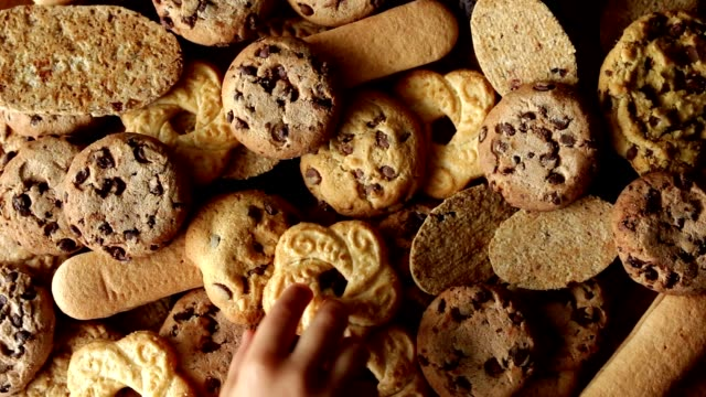 rotating cookies top view video