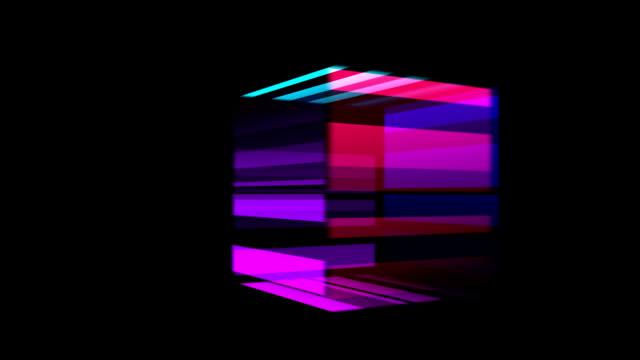 vidéos et rushes de cube en rotation - cube