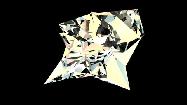 Rotating diamond crystal video