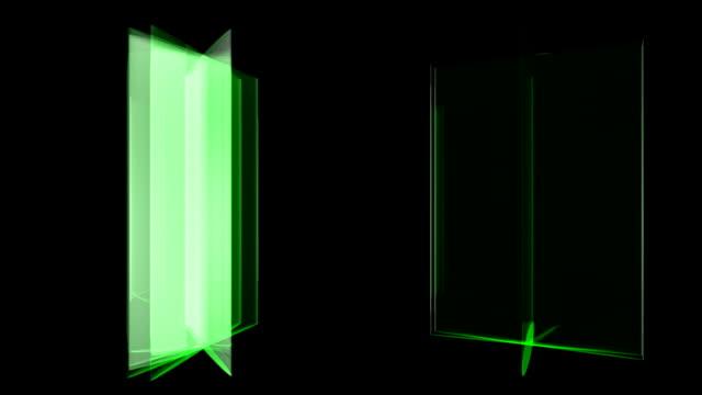 3D rotating doors design, HD 1080. video